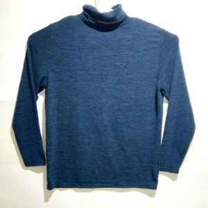 H2H Blue XL Turtleneck Sweater Pullover Cardigan